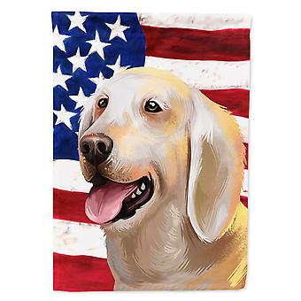 Carolines Treasures  CK6435CHF Billy Dog American Flag Flag Canvas House Size