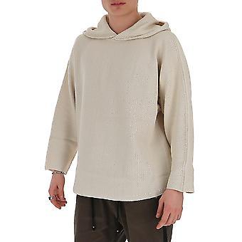 Homme Plissé By Issey Miyake Hp06kk00103 Men's Beige Cotton Sweater