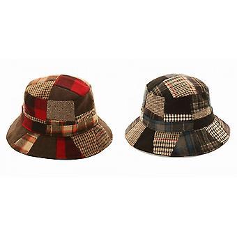 Cappello della benna di adulti Unisex Patchwork lana Blend