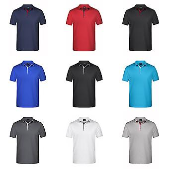 James und Nicholson Herren Single Stripe Polo Shirt