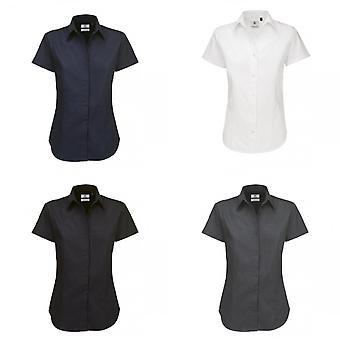 B&C Womens/Ladies Sharp Twill Short Sleeve Shirt