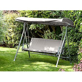 Grijze vervanging 3 Seater Canopy Garden Patio Swing Seat Bench Rugleuning