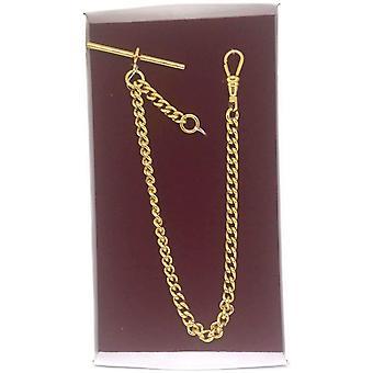 Pocket watch Albert valssatut kultayhden hillitä vakiopaino linkki koko 5.2mm x 7mm