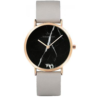 Watch Andreas Osten AO-198 - Grey Leather Watch Bo tier Dor Rose Mixed