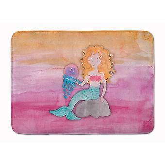 Blonde Mermaid akvarell apparat Washable minne skum Mat