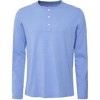 Hartford Katoen Lange Mouw Henley T-shirt
