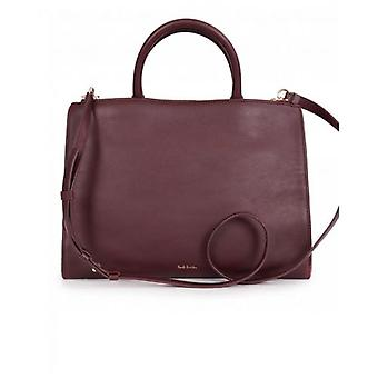 Paul Smith Accessories Swirl Trim Leather Tote Bag