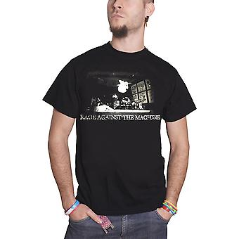 Rage Against the Machine T Shirt Live Jump Band logo Official Mens New Black