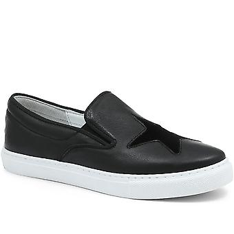 Jones Bootmaker Womens Mariam Slip-On Leather Trainer