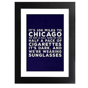 Blues Brothers Sunglasses Quote Framed Print