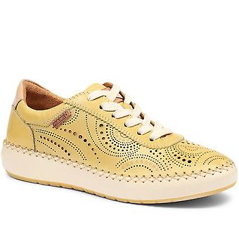 Pikolinos Womens Mesina W6B Punched Leather Lace-Up Trainer