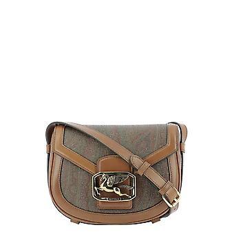 Etro 1i35282390600 Women's Brown Leather Shoulder Bag