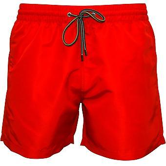 Paul Smith Premium Solids Classic-cut Swim Shorts, Red