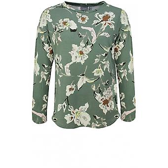 b.young Fine Knit Floral Jumper