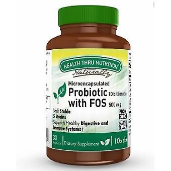Probiotic with FOS 10 Billion cfu (30 Vegicaps) - Health Thru Nutrition