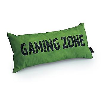Slogan game over gaming zone - Verde | Almofada para Jogos | Migalha de espuma enchida | Resistente à água | Roupa de cama e sofá | Home D cor