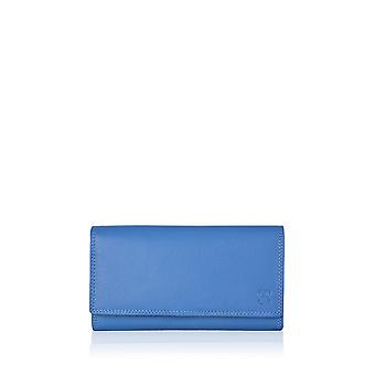 19cm Leather Purse in Blue