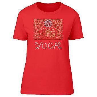 Pige laver Yoga-Øvelser Tee kvinder-billede af Shutterstock