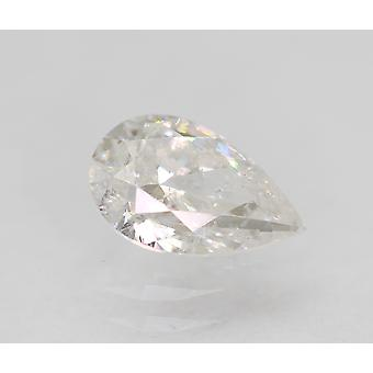 Certified 0.59 Carat D Color SI2 Pear Natural Loose Diamond 7.18x4.73mm 2EX