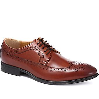 Steptronic Mens Francis Wide Fit Leather Brogues