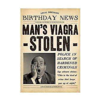 Pigment Fleet Street Mans Viagra Stolen Birthday Card