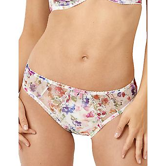 Sans Complexe 60PAE77 Women's Affinité White Garden Flower Print Knickers Panty Full Brief