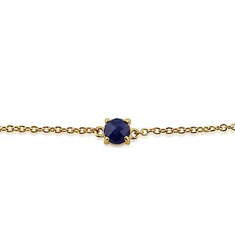 Classic Round Sapphire Checkerboard Bracelet in 9ct Yellow Gold 135L0188089