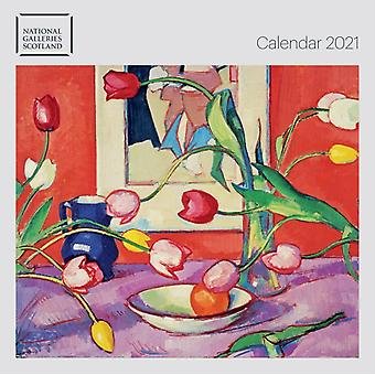 National Galleries of Scotland Wall Calendar 2021 Art Calendar by Created by Flame Tree Studio