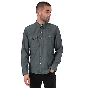 Men's Levis Barstow Western Shirt in lila