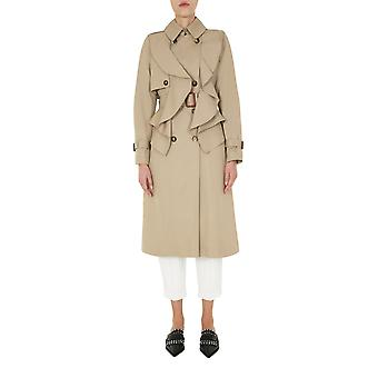 Alexander Mcqueen 606246qfaaa2001 Women's Beige Cotton Trench Coat