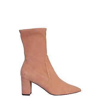 Stuart Weitzman Landry75suedestrcappuccino Women's Beige Suede Ankle Boots