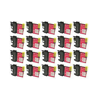 RudyTwos 20x Replacement for Brother LC-985M Ink Unit Magenta Compatible with MFC-J220, J265W, J410, DCP-J125, J315W, J415W, J515W