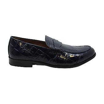 Stacy Adams Mens Crocodile Closed Toe Penny Loafer