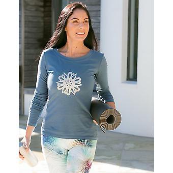 Blue Horizon Mandala Graphic Long Sleeve Top