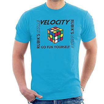 Rubik ' s go Fun zelf mannen ' s T-shirt