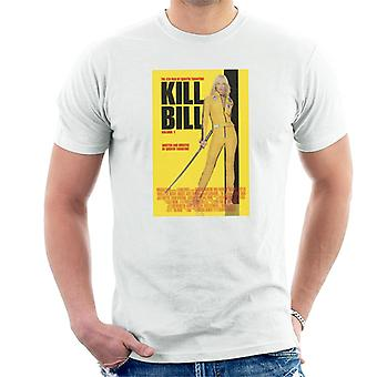 Kill Bill Movie Poster Beatrix Kiddo Yellow Sword Men's T-Shirt