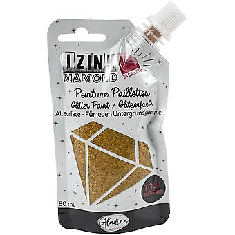 Aladine Izink Diamond Glitter Paint 24 Karaat Goud 80ml