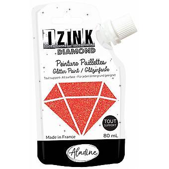 Aladine Izink Diamond Glitter Paint Red 80ml.