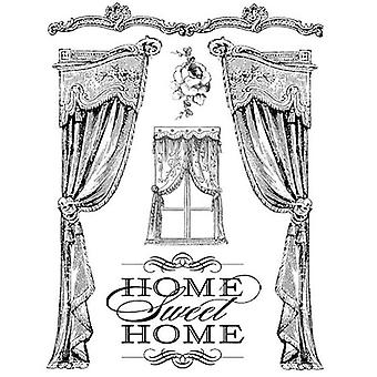 Natural Rubber Stamp Home Sweet Home (WTKCC20)