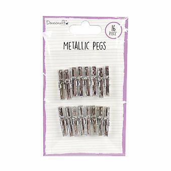 Dovecraft Metallic Pegs Silber