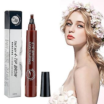 Waterproof Natural Eyebrow Pen Four Claw, Fork Tip Eyebrow Tattoo Pencil