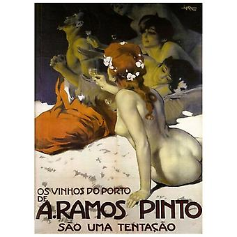 Print on canvas - A.Ramos Pinto - Leopoldo Metlicovitz - Painting on Canvas, Wall Decoration