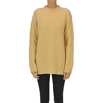 Luna Bi Ezgl526003 Women's Orange Wool Sweater