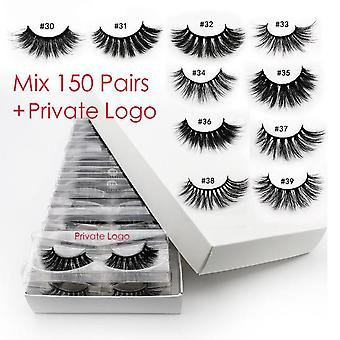 3d Natural Mink Eyelashes Makeup Thick Fake Lash In Bulk