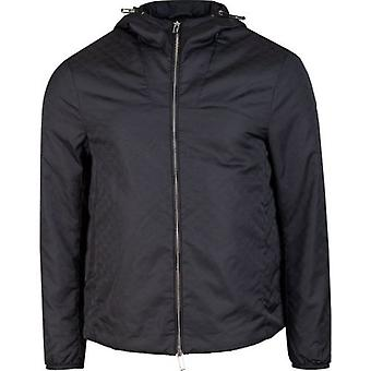 Armani All Over Eagle Logo Hooded Jacket