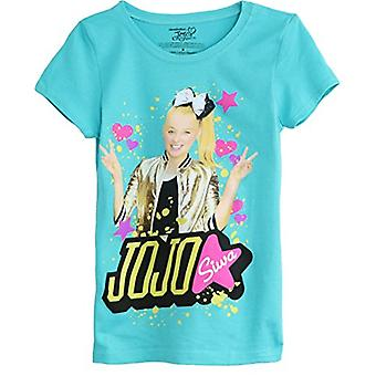 Jojo Siwa Girls' Little Short Sleeve T-Shirt (7/8, Bright Teal)