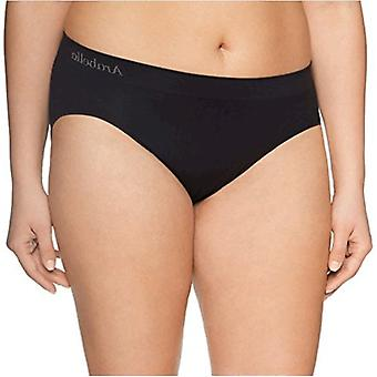 Merk - Arabella Women's Plus Size Seamless Hi Cut Brief Panty, 3 Pack...