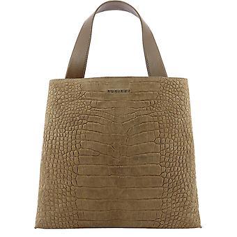 Orciani B02031cashmerecoccofarro Women's Brown Leather Tote