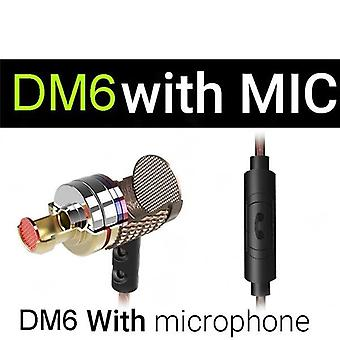 Dm6 Professional In Ear Earphone Metal Heavy Bass Sound Quality For Music Earphone Headset