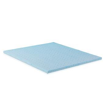 Furinno 2-inch HD Gel-Infused Foam Mattress Topper, Firm, King